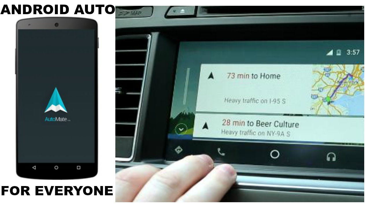 android auto for any car automate app review youtube. Black Bedroom Furniture Sets. Home Design Ideas