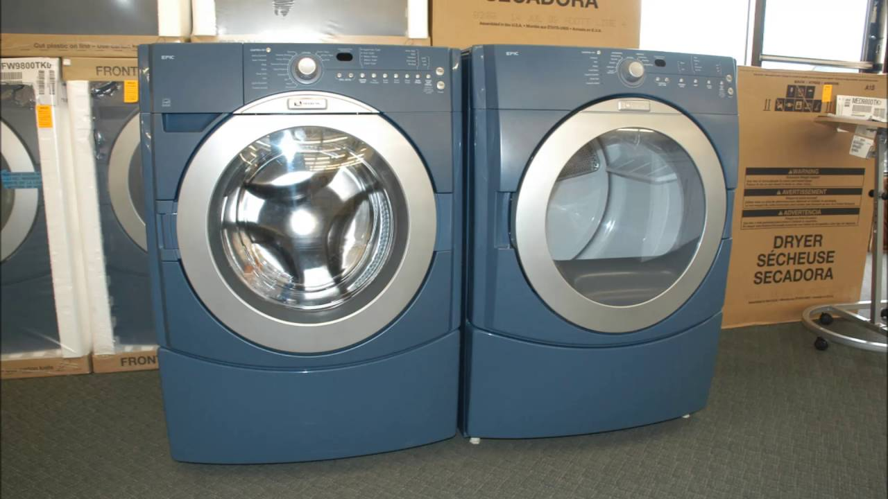 Cool Blue Washer And Dryer