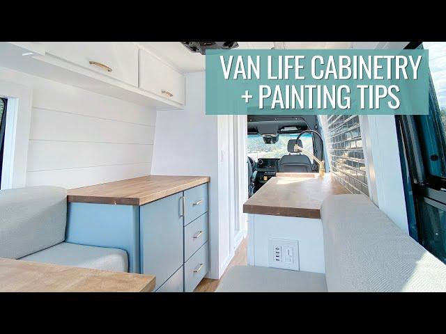 van life cabinets & painting tips | VAN BUILD SERIES (episode 4)