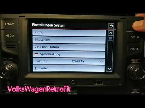 Golf 7 Desay Sv 5GG035280B Radio Deutsche // VolksWagenRetrofit