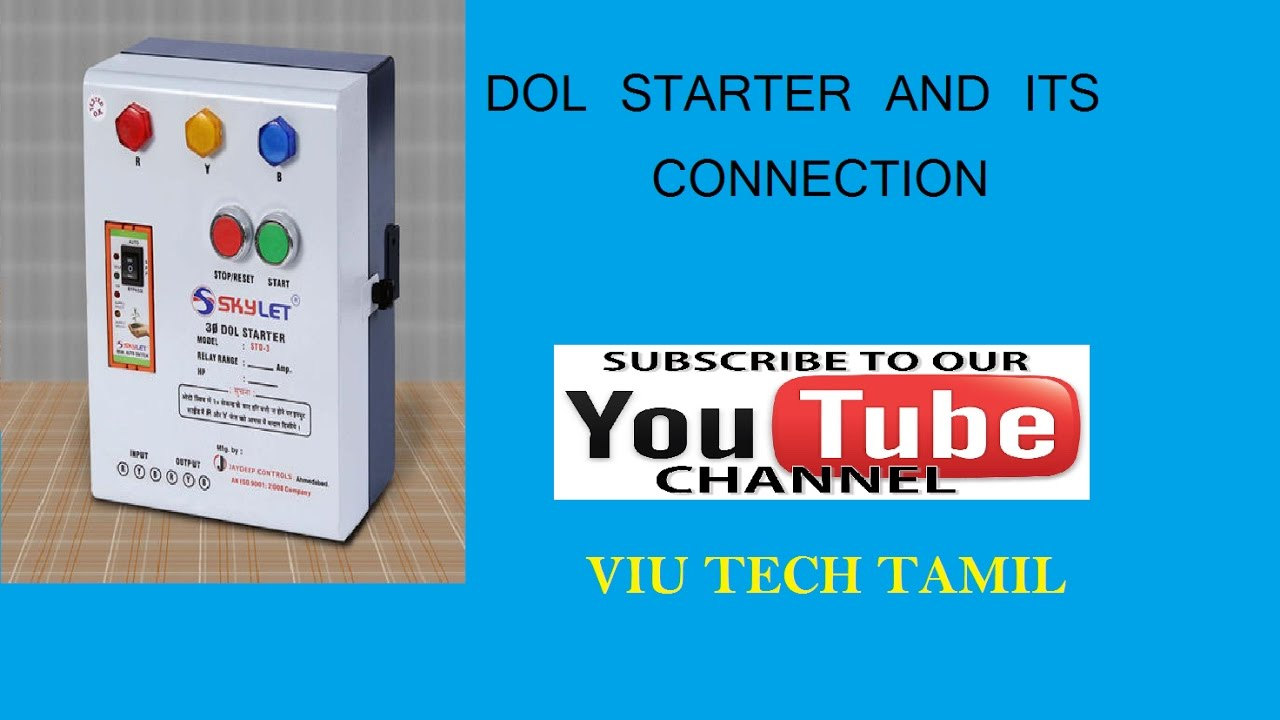 Dol Starter And Its Connection Tamil Youtube