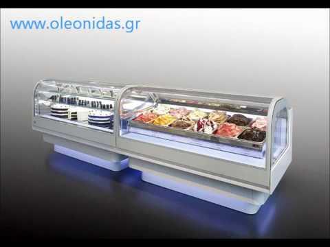 Βιτρίνα Παγωτού Design Cloud IFI. Ιce cream showcase refrigerator (Gelato) Design Cloud IFI