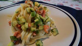 Linguine Con Salmone Affumicato E Zucchine