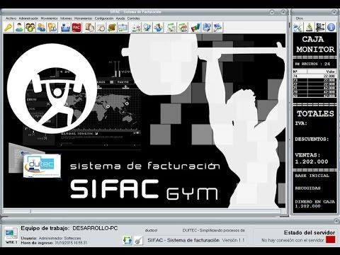 Software para gimnasios, SIFAC GYM colombia, administrativo