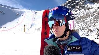 Mikaela Shiffrin vor dem Weltcup Start in Sölden