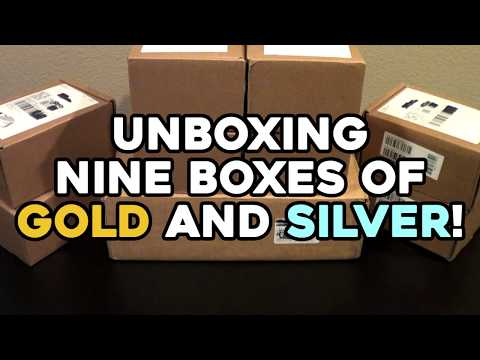 Unboxing NINE BOXES Of Gold And Silver! (and A Few Innovation Dollars)