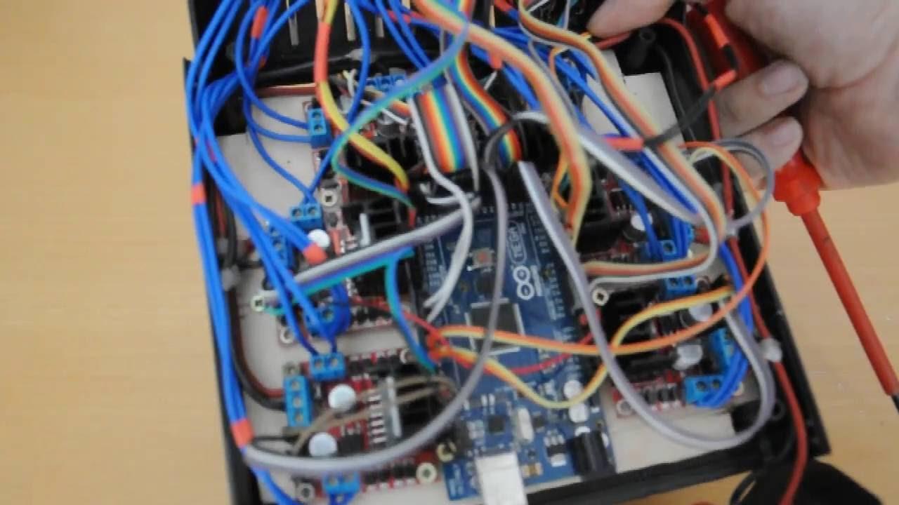Inside the arduino lego trains control box youtube