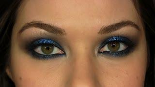 Hilary Duff Rock & Roll Blue Smokey Eye