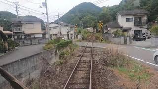 JR四国 予土線 宇和島ー若井 前面展望