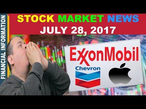 Stock Market News📰 | Exxon Mobil, Chevron, Apple, Amazon | July 28, 2017