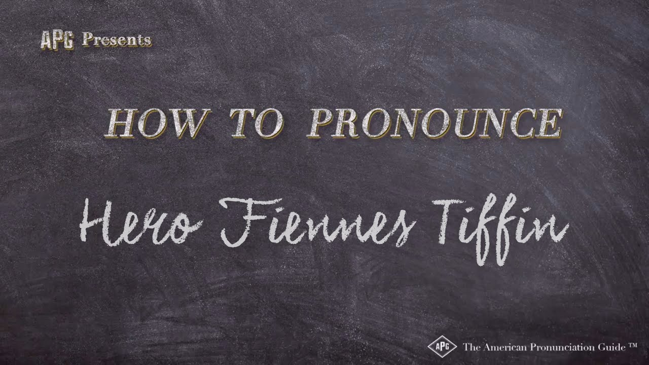 How to Pronounce Hero Fiennes Tiffin (According to HERO FIENNES TIFFIN!)