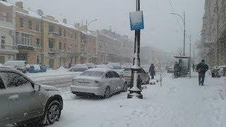 Снег в Одессе ч 2 16.01.2018 Одессу засыпало снегом ВЕЧЕР