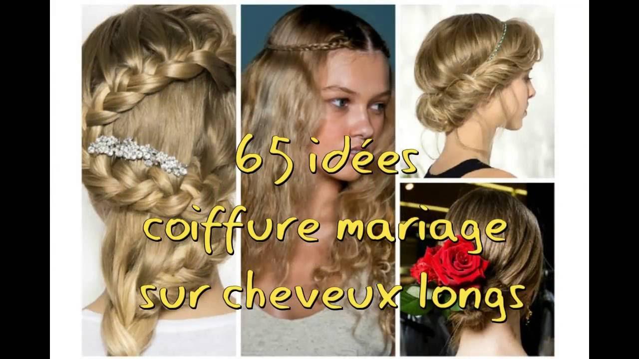 Idee coiffure mariage long