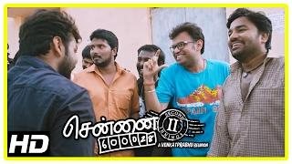 Chennai 600028 II Movie Scenes | Friends decide to unite Jai and Sana | Shiva | Inigo Prabhakaran