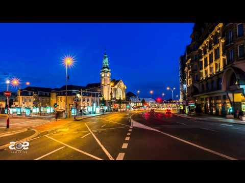 Luxembourg train station at a time lapse