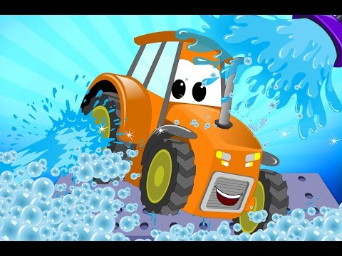 Tractor | Car Wash For Kids | Learn Transport | Teach Vehicl
