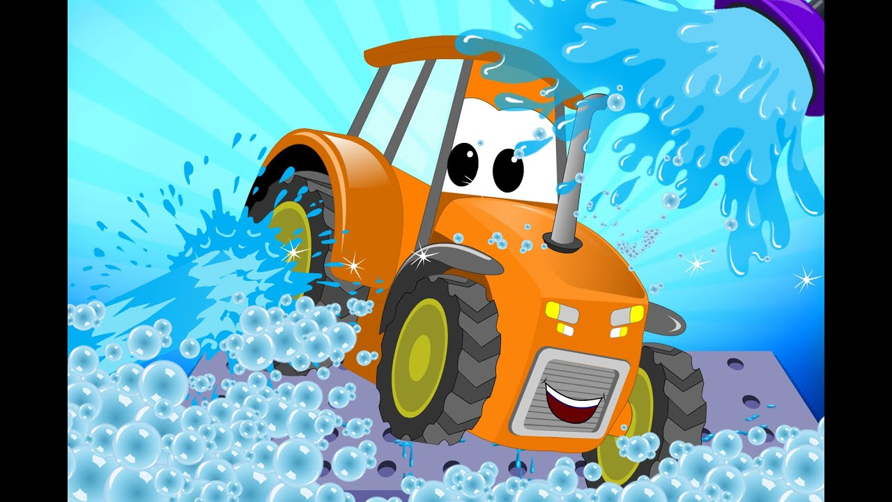 Tractor Car Wash For Kids Learn Transport
