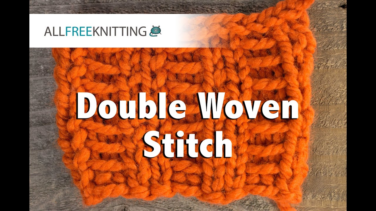 How To: Double Woven Stitch - YouTube