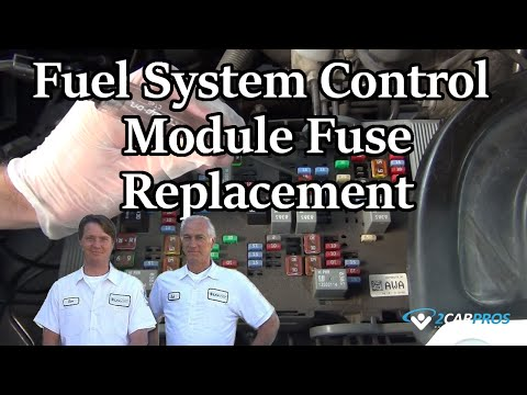 Fuel System Control Module Fuse Replacement - YouTube