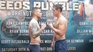 CONNOR SEYMOUR v LIAM GRIFFITHS - OFFICIAL WEIGH IN & HEAD TO HEAD / LEEDS RUMBLE
