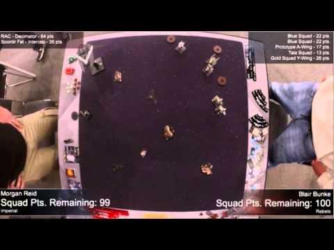 X Wing Worlds 2015 Round 6 - Morgan Reid (Deci Soontir) vs Blair Bunke (Rebel Swarm)
