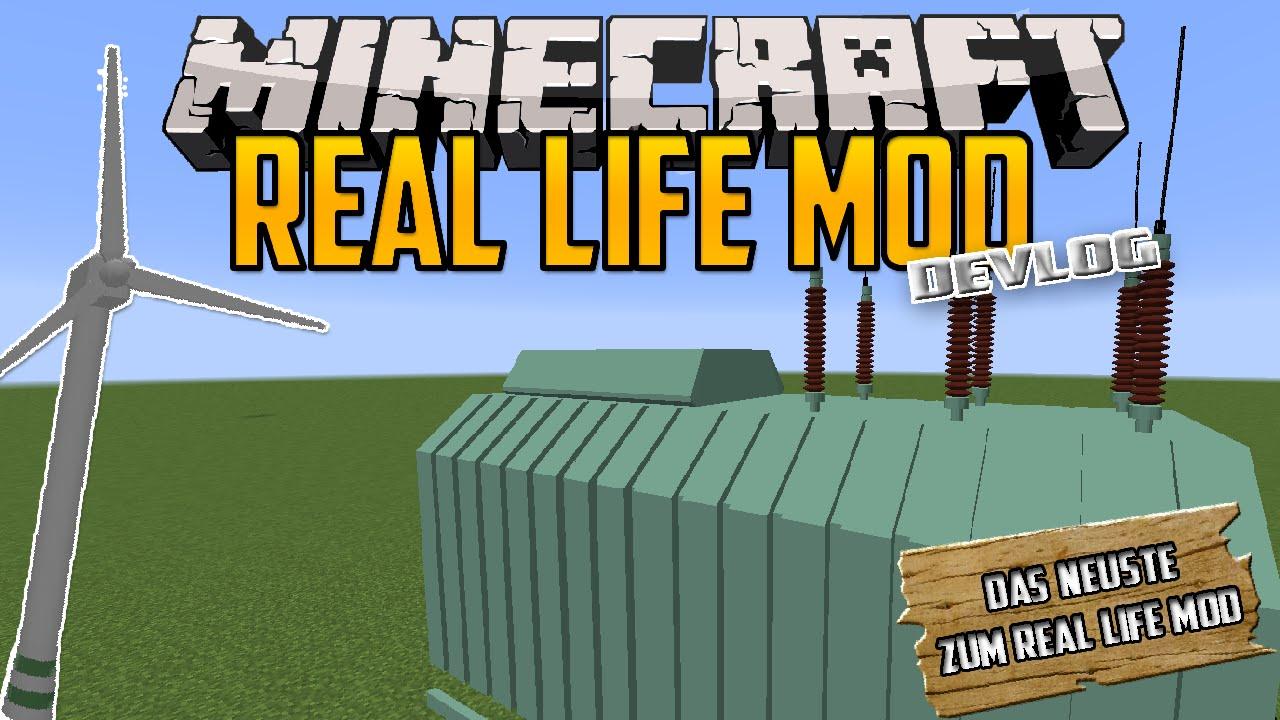 Minecraft Real Life Mod Devlog 78 Trafo Windrad Jede Menge