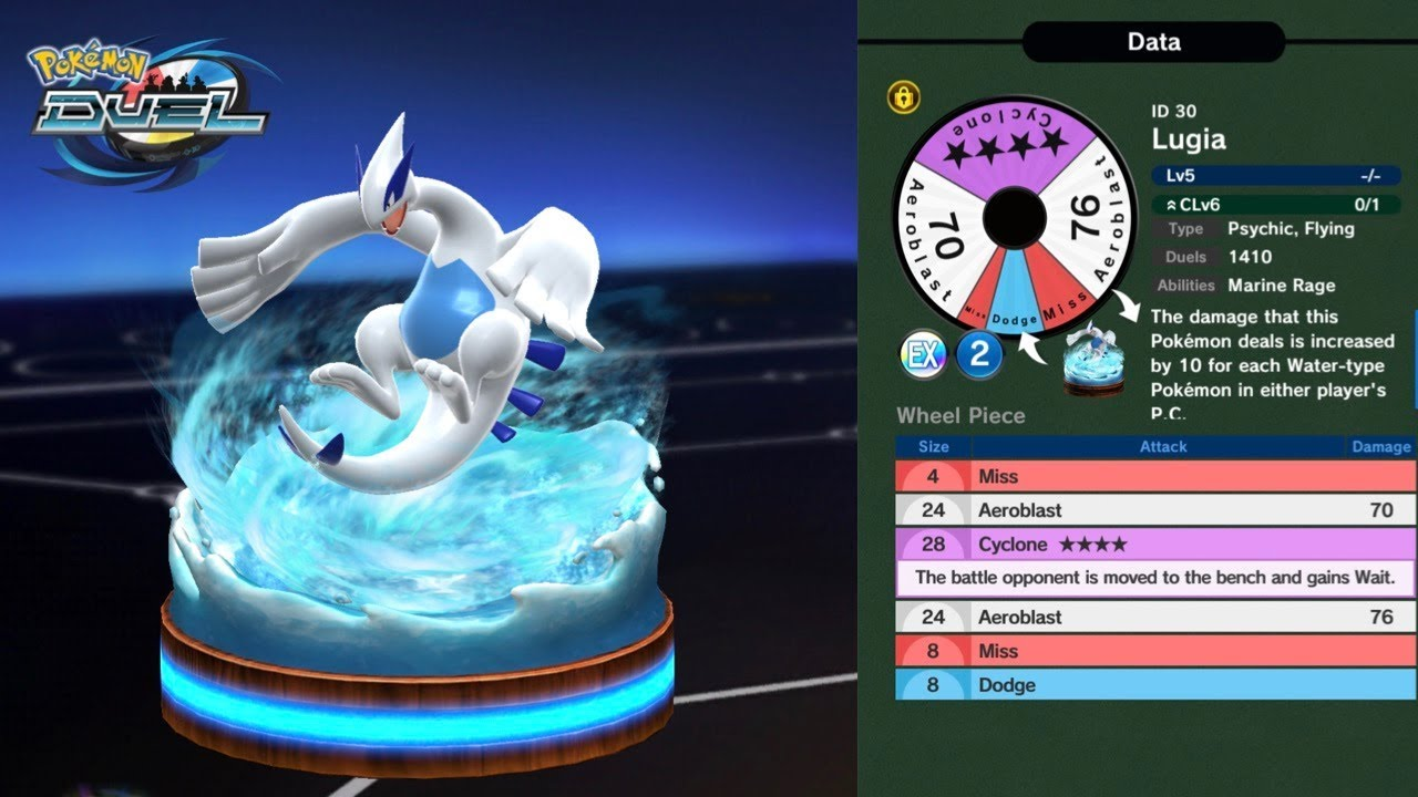 MAKING ROOM FOR LUGIA IN POKEMON DUEL
