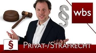 Jura Basics: Privatrecht vs. Öffentliches Recht vs. Strafrecht | Rechtsanwalt Christian Solmecke