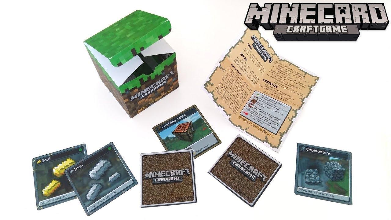 Présentation du jeux de cartes MINECARD