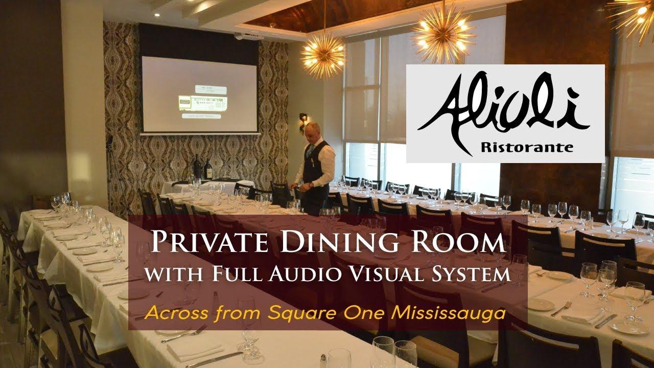 Alioli Private Dining Room Mississauga Italian Restaurant