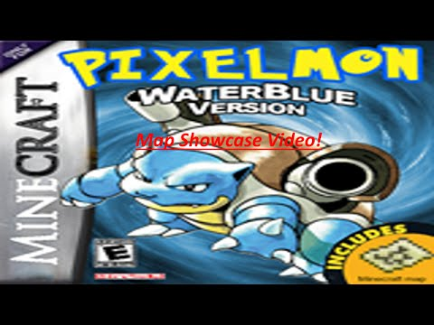 Pixelmon Water Blue Map Showcase for Pixelmon 4.0.7 and Minecraft 1.8 in 1080P HD!