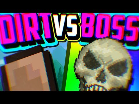 Terraria DIRT Vs BOSS