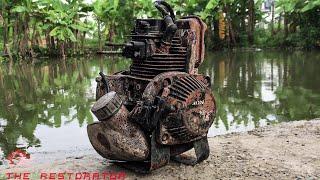 Restoration Old HONDA GX35 4 Stroke Engine | Restore HONDA Engine rusty