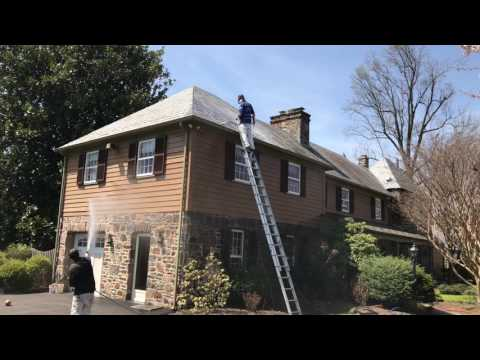 Soft Wash Slate Roof Cleaning 717-324-4208