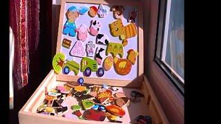 Обзор Доска и набор магнитов Ферма распаковка board and set of magnets Farm unboxing