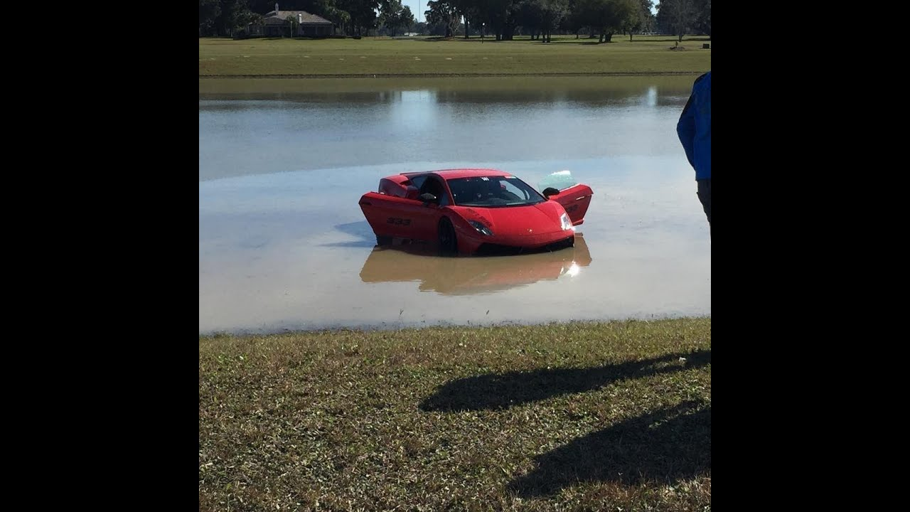 2000+HP Lamborghini Crashes Into Lake Angle #2