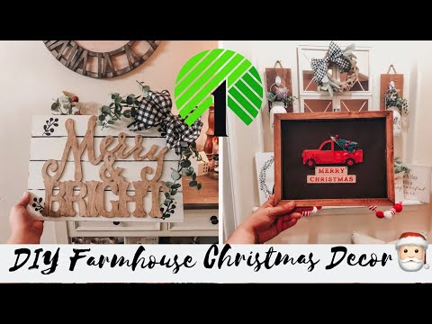 Dollar Tree Christmas DIY 2019 | Christmas Farmhouse Home Decor