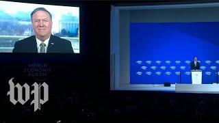 Pompeo delivers address to the World Economic Forum via satellite