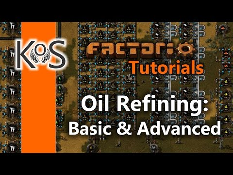 Factorio Tutorials: Setting up Oil Refining: Basic & Advanced