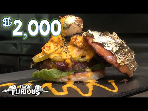 eating the world 39 s most expensive burger 2 000 youtube. Black Bedroom Furniture Sets. Home Design Ideas