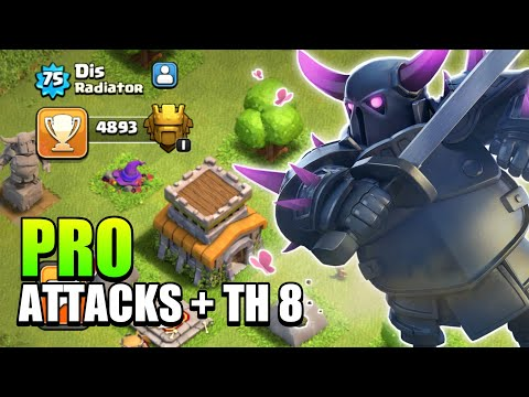 TOWN HALL 8 BEST PUSHING ATTACK STRATEGY | TOWN HALL 8 LEGENDARY ATTACKS - 2019