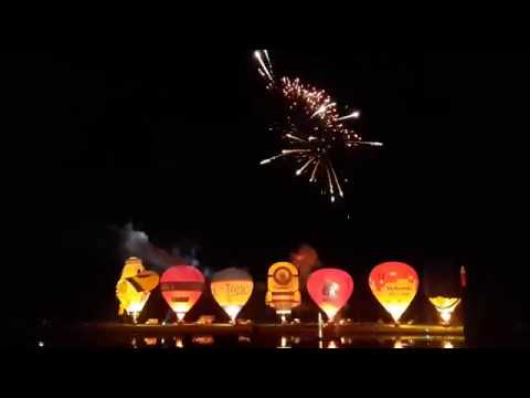 Twente ballooning 2017, nightglow