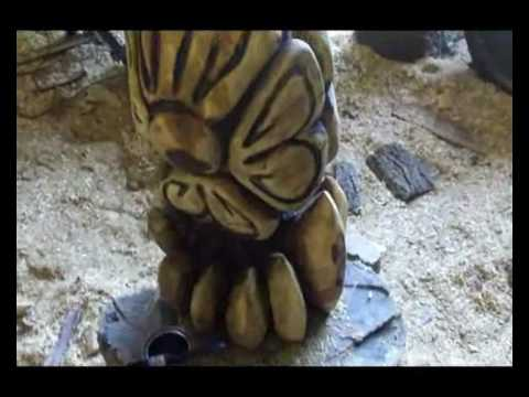 Chainsaw carvings of flowers youtube
