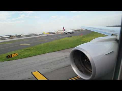 American Airlines 777-200 Pushback, Taxi and Takeoff from New York (JFK)