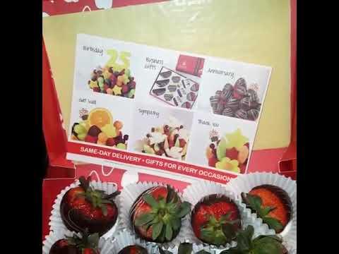 Edible Arrangements chocolate covered strawberries