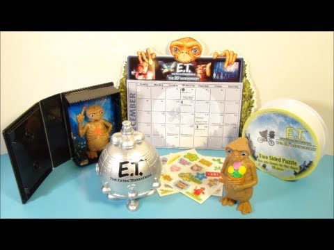 2002 E.T. THE EXTRA TERRESTRIAL SET OF 5 WENDY'S KID'S MEAL TOY'S VIDEO REVIEW