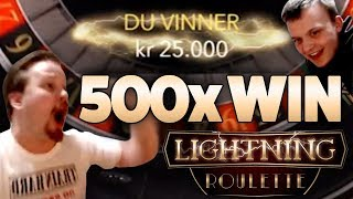Lightning Roulette - 500x big win comeback