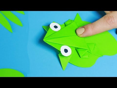 HOW TO MAKE A PAPER FROG THAT JUMPS - ORIGAMI STEP BY STEP TUTORIAL