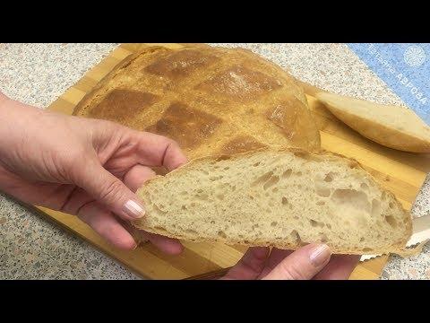 Пшеничный хлеб на закваске без замеса на 1-2-3