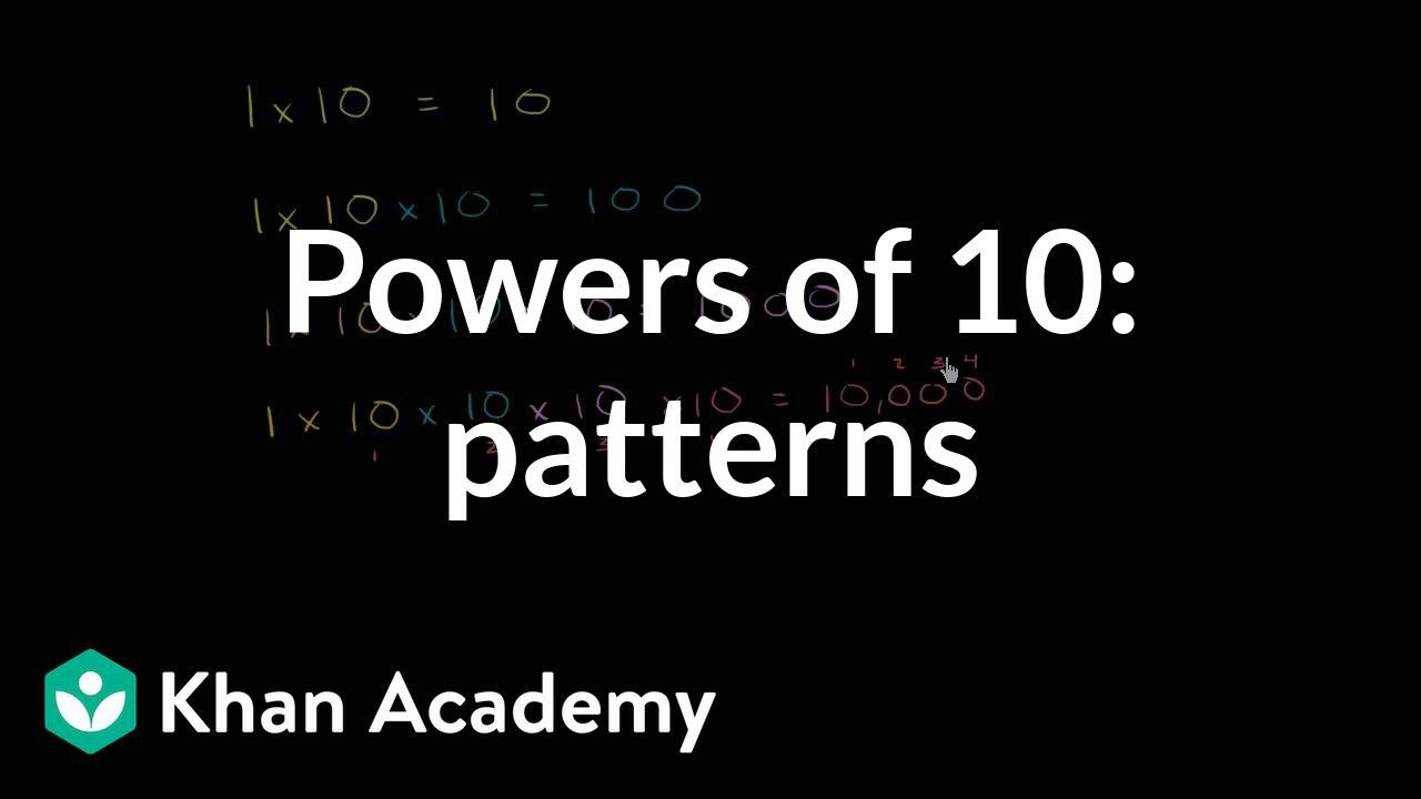 small resolution of Powers of 10: patterns   Place value and decimals   5th grade   Khan  Academy - YouTube